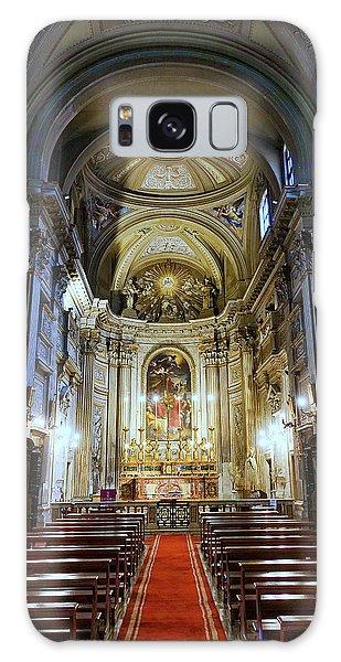 Interior View Of Santi Vincenzo E Anastasio A Fontana Di Trevi In Rome Italy Galaxy Case