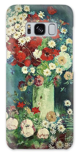 Interpretation Of Van Gogh Still Life With Meadow Flowers And Roses Galaxy Case