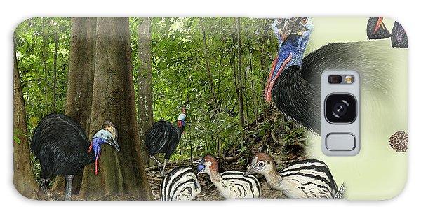 Zoo Nature Interpretation Panel Cassowaries Blue Quandong Galaxy Case