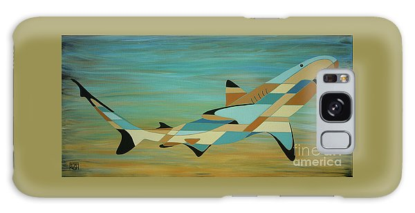 Into The Blue Shark Painting Galaxy Case