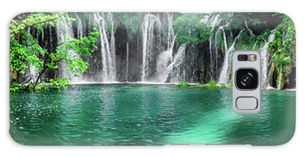 Into The Waterfalls - Plitvice Lakes National Park Croatia Galaxy Case