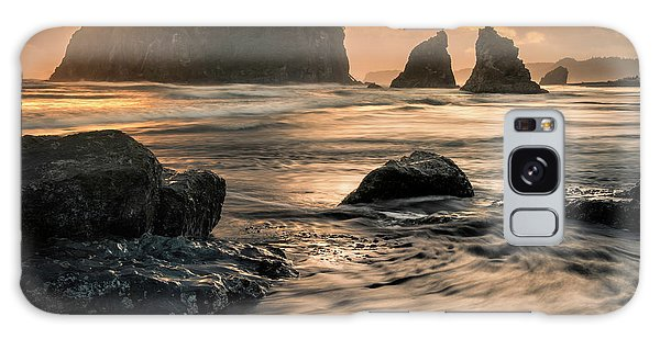 Galaxy Case featuring the photograph Into The Sea - Ruby Beach by Expressive Landscapes Fine Art Photography by Thom