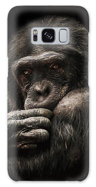 Chimpanzee Galaxy S8 Case - Introvert by Paul Neville