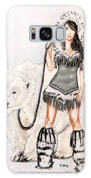 Inuit Pin-up Girl Galaxy Case