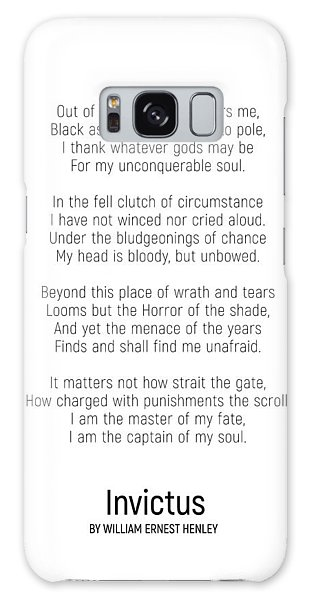 Invictus By William Ernest Henley #minimalist #poem  Galaxy Case