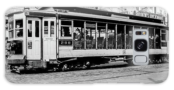 Galaxy Case featuring the photograph Inwood Crosstown Trolley  by Cole Thompson