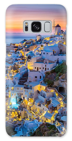 Place Galaxy Case - Oia Sunset by Inge Johnsson