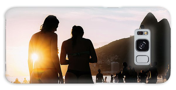 Ipanema, Rio De Janeiro, Brazil At Sunset Galaxy Case