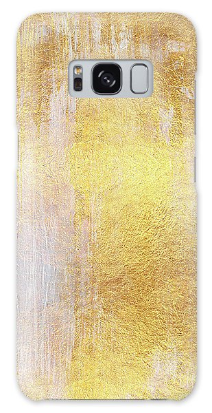 Iridescent Galaxy Case - Iridescent Abstract Non Objective Golden Painting by Tina Lavoie