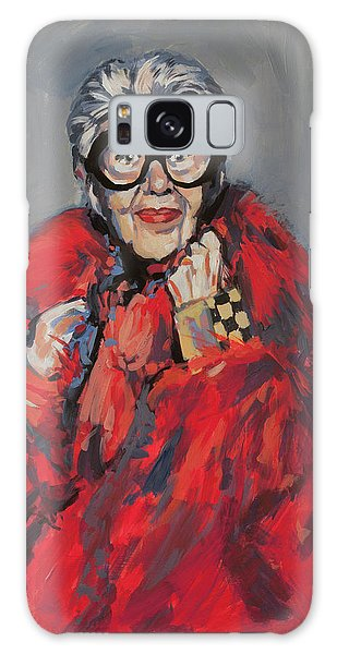 Iris Apfel Style Icon Galaxy Case by Nop Briex