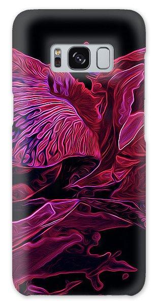 Iris Deep Red Glow Galaxy Case by Lynda Lehmann