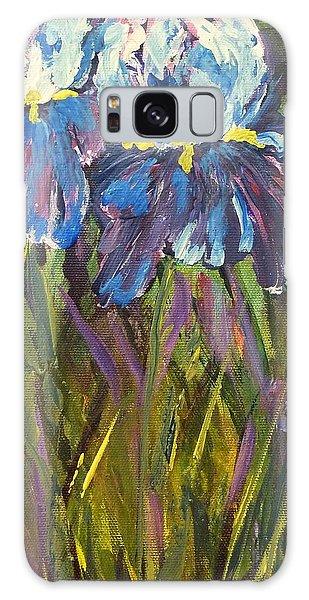 Iris Floral Garden Galaxy Case by Claire Bull