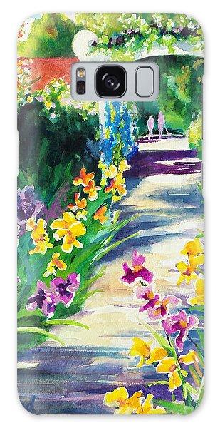 Iris Garden Walkway   Galaxy Case