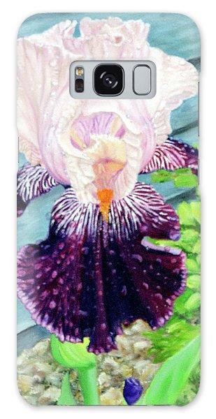 Iris In The Spring Rain Galaxy Case