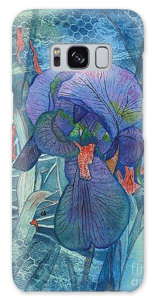 Iris Lace With Wild Columbine Galaxy Case