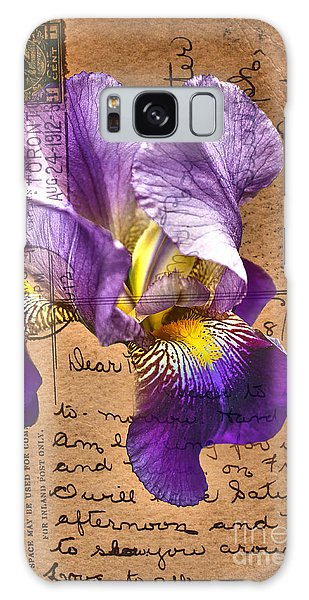 Iris On Vintage 1912 Postcard Galaxy Case