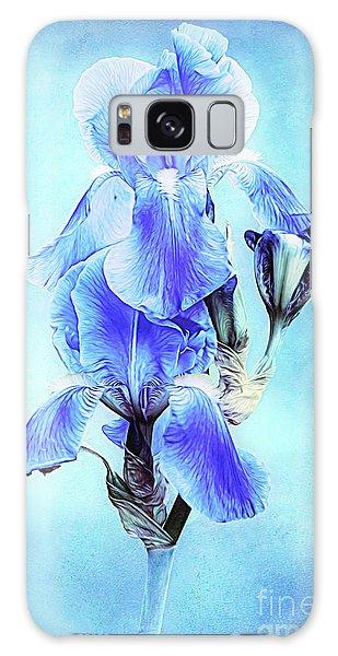 Iris Pair In Blue Galaxy Case