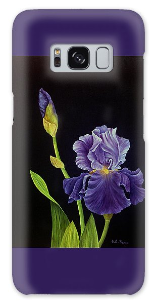 Iris With Purple Ruffles Galaxy Case