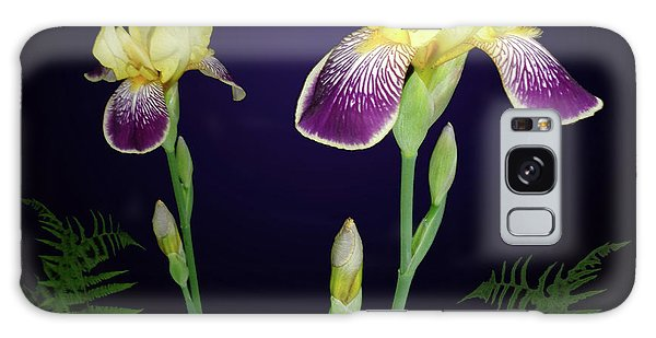 Irises In The Night Garden Galaxy Case
