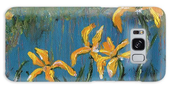 Galaxy Case featuring the painting Irises by Jamie Frier