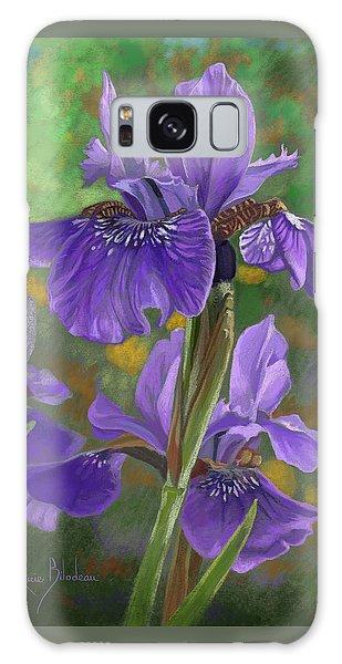 Irises Galaxy Case by Lucie Bilodeau