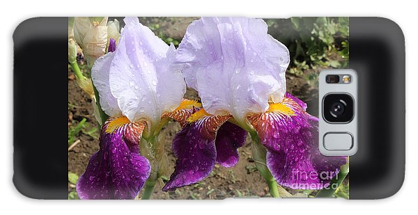 Irises Sparkling With Rain Droplets Galaxy Case