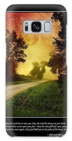 March Galaxy Case - Irish Blessing Poster Art by Christina Rollo