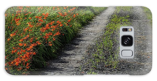 Galaxy Case featuring the photograph Irish Country Road Lined With Wildflowers by James Truett