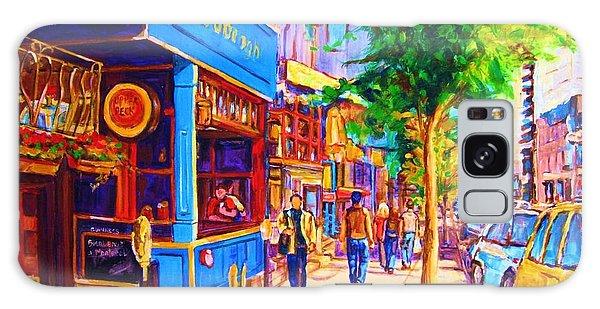 Irish Pub On Crescent Street Galaxy Case by Carole Spandau