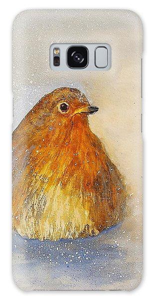 Song Birds Galaxy Case - Irish Robin In The Snow by Kathleen Pio