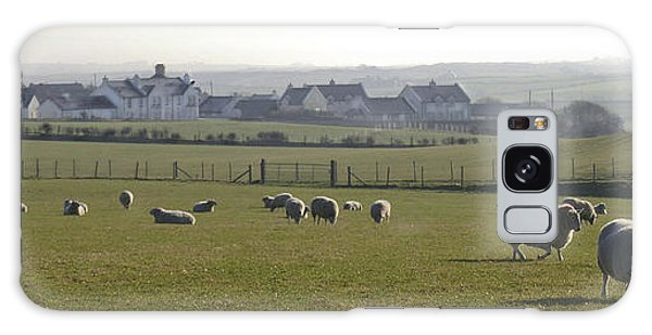 Irish Sheep Farm I Galaxy Case by Henri Irizarri