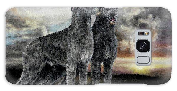Sighthound Galaxy Case - Irish Wolfhound Pair - Majestic Irish Sunset by Sandi Rolfe
