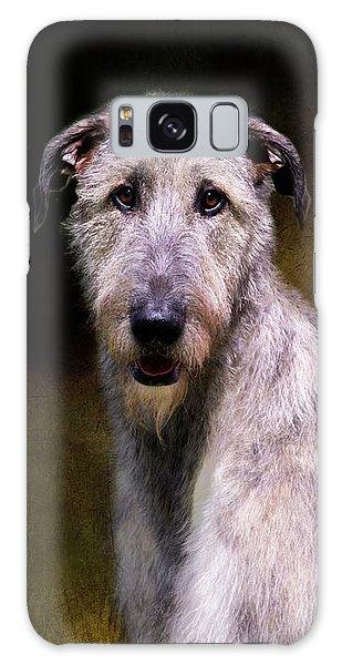 Irish Wolfhound Portrait Galaxy Case