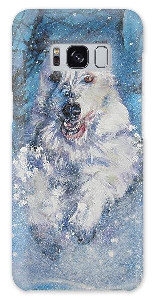 Sighthound Galaxy Case - Irish Wolfhound Winter Run by Lee Ann Shepard