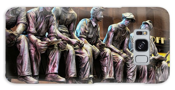 Ironworkers Having Lunch II Galaxy Case by Lee Dos Santos