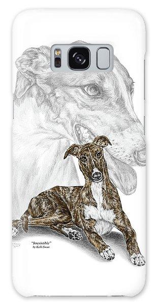 Irresistible - Greyhound Dog Print Color Tinted Galaxy Case by Kelli Swan