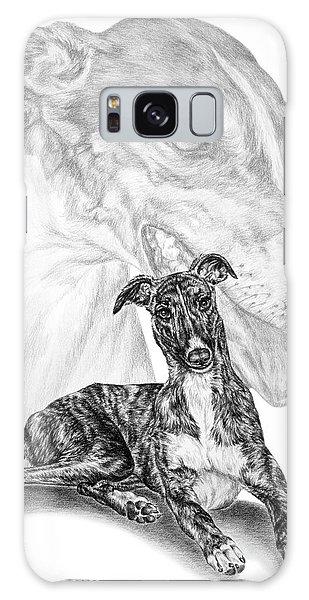 Irresistible - Greyhound Dog Print Galaxy Case