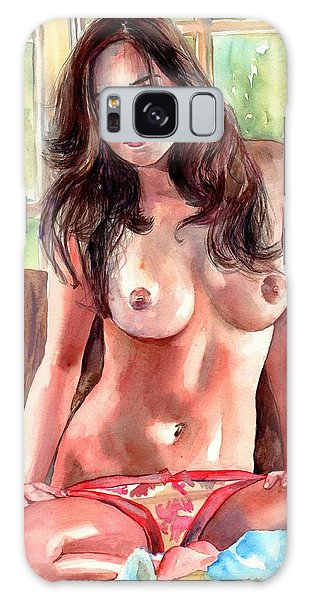Great Lakes Galaxy Case - Isabella Nude Lady Portrait by Suzann Sines