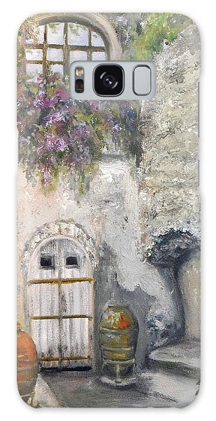Ischia Courtyard Galaxy Case by Sandra Nardone