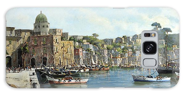 Island Of Procida - Italy- Harbor With Boats Galaxy Case