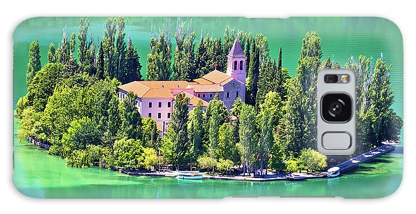 Island Of Visovac Monastery In Krka  Galaxy Case