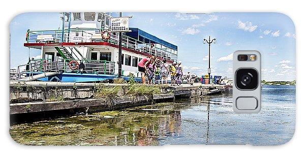 Island Princess At Harbour Dock Galaxy Case