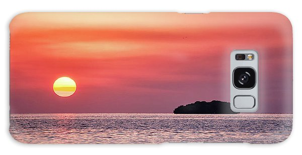 Island Sunset Galaxy Case