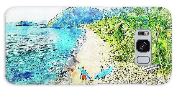 Island Surfers Galaxy Case