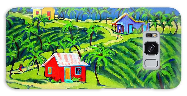 Island Time - Colorful Houses Caribbean Cottages Galaxy Case