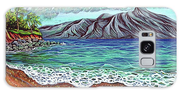 Island Time Galaxy Case by Debbie Chamberlin