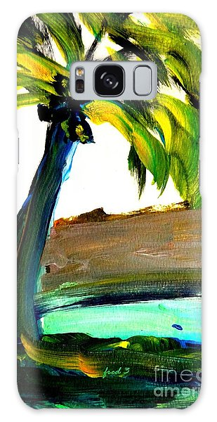 Island Time Signed Print Galaxy Case