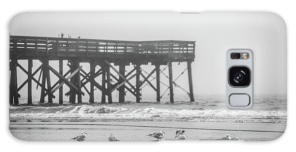 Isle Of Palms Pier And Fog Galaxy Case