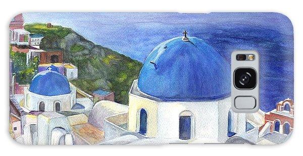 Isle Of Santorini Thiara  In Greece Galaxy Case