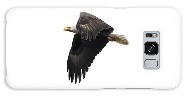 Isolated American Bald Eagle 2016-6 Galaxy Case